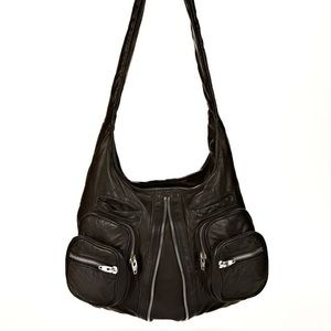 Alexander Wang Donna Hobo in Washed Black